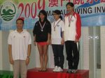 Myra on the podium for Girls' Platform