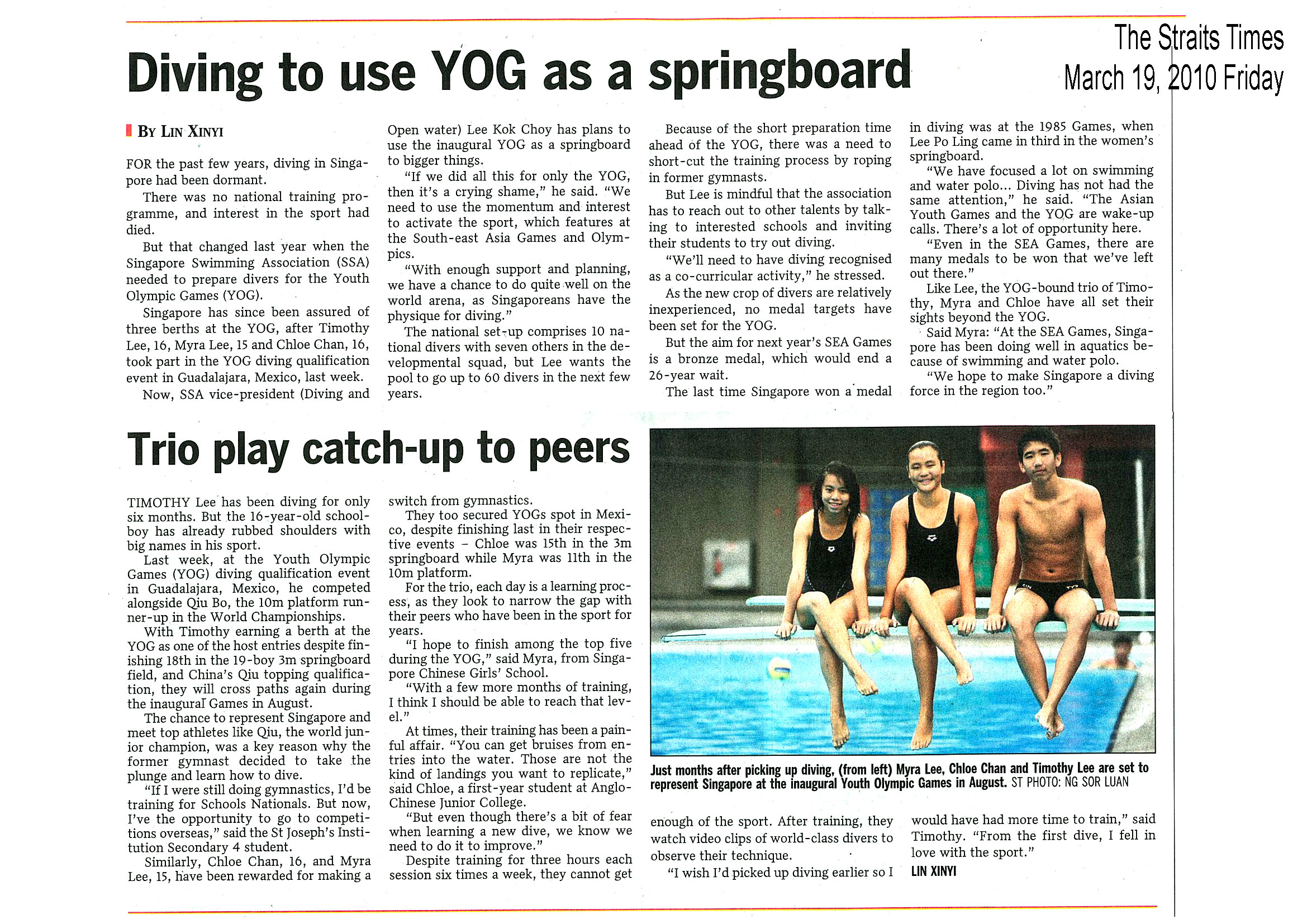 STRAITS TIMES Article « Singapore Diving