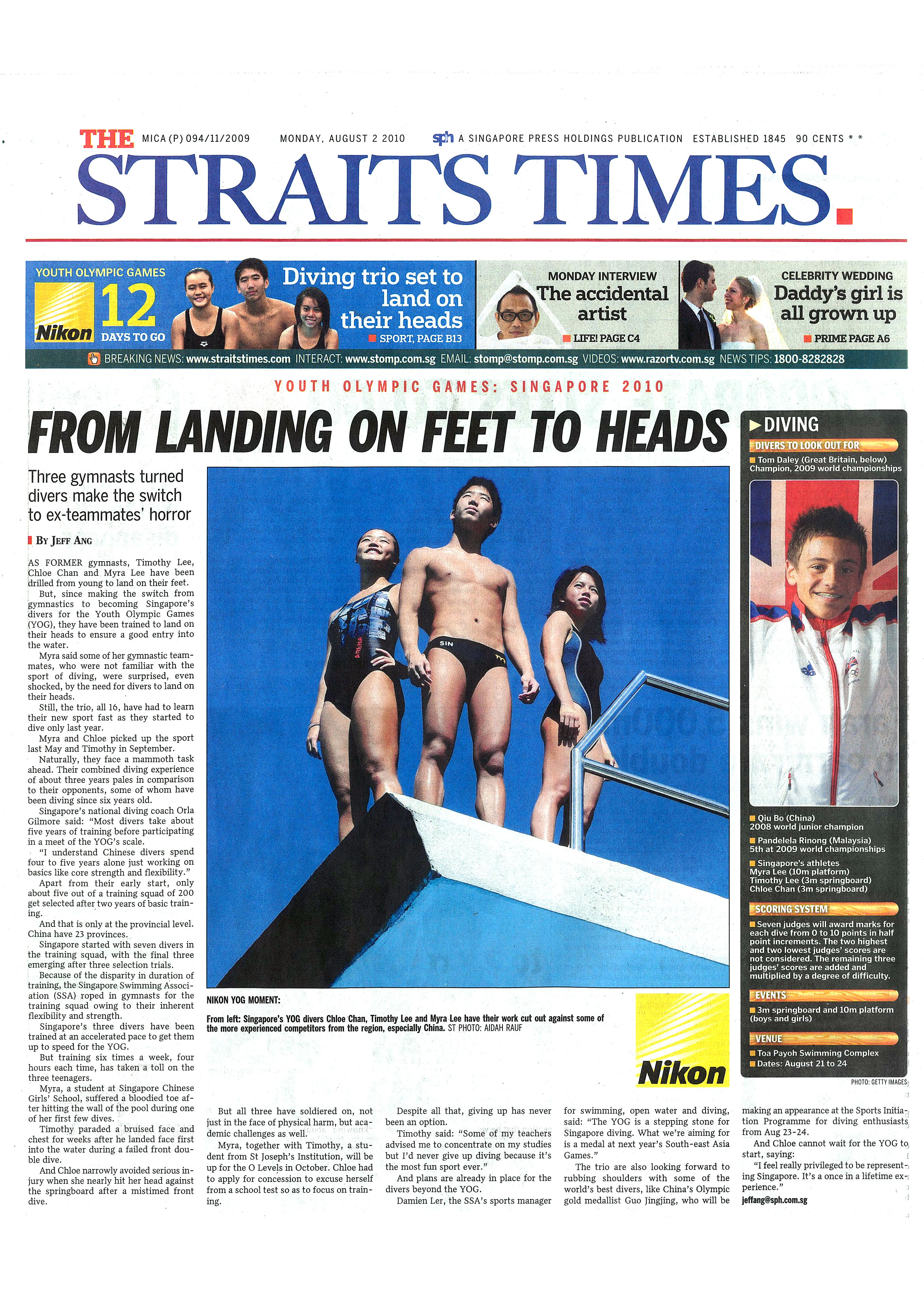 STRAITS TIMES - 2 August 2010