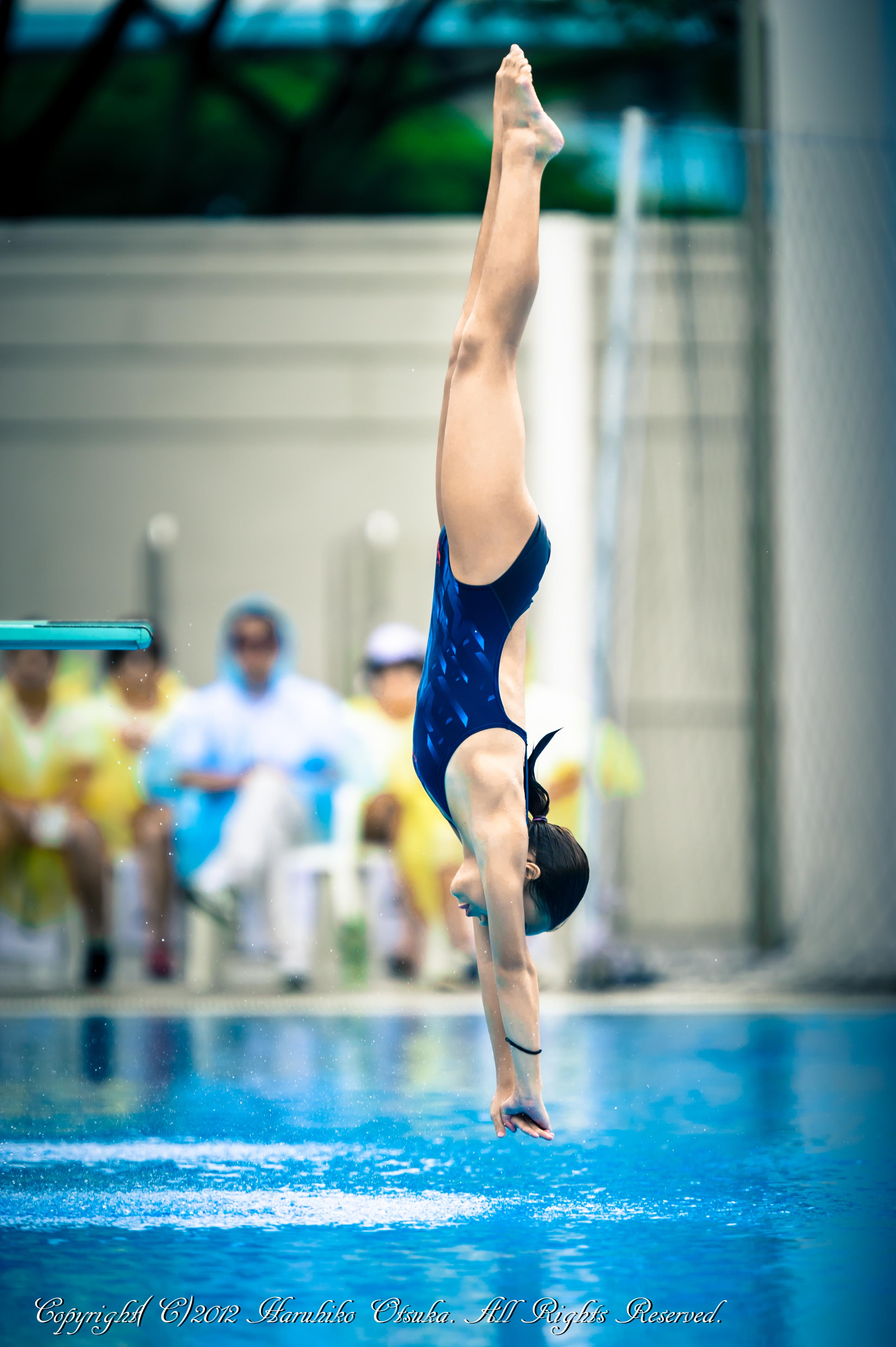 how to do a straddle jump swimming